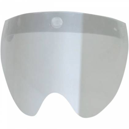 Vizieră 3-SNAP FLIP SHORT SHIELD SILVER MIRROR
