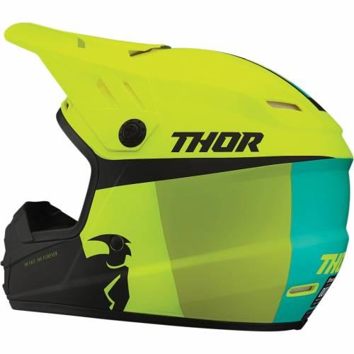 Cască Enduro - Cross Copii THOR SECTOR RACER · Verde / Galben Fluo
