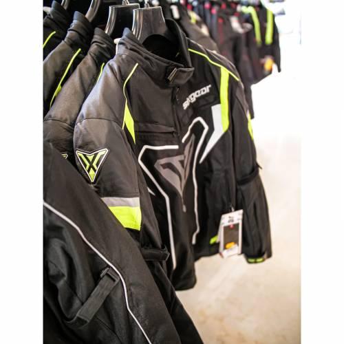 Geacă Moto din Textil SIXGEAR RIOT · Negru / Verde Fluo
