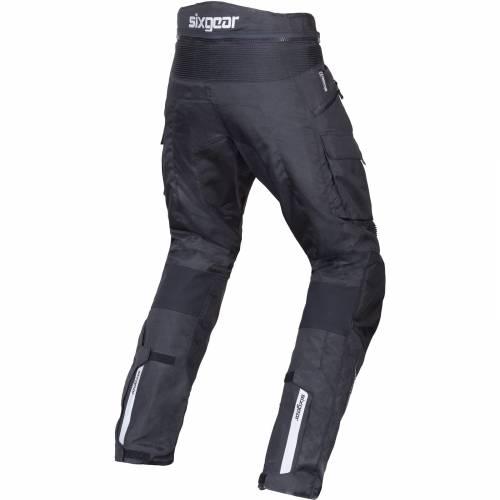 Pantaloni Moto din Textil SIXGEAR REVO · Negru