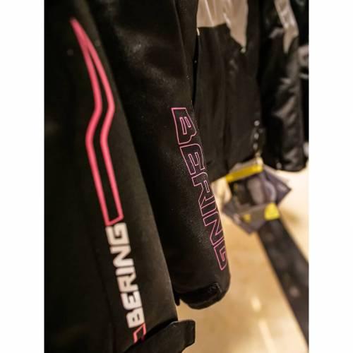 Geacă Moto Damă din Textil BERING LADY BARIO · Roz / Negru