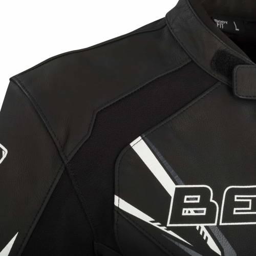 Geacă Moto din Piele & Textil BERING SKOPE · Negru