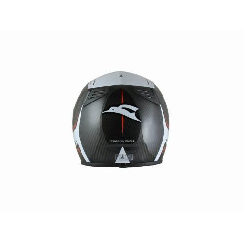 Cască Moto Integrală din Carbon KIWI K700CS · Negru / Alb
