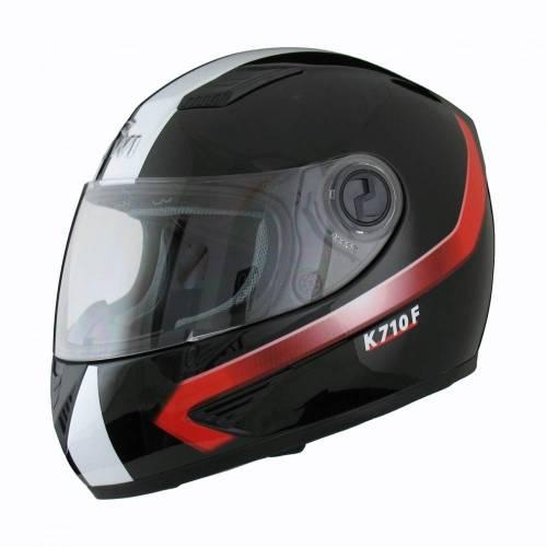 Cască Moto Integrală KIWI K710F TROPHY · Negru / Alb / Roșu