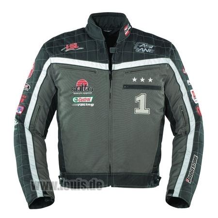 Geacă Moto FASTLANE F101 · Negru / Gri