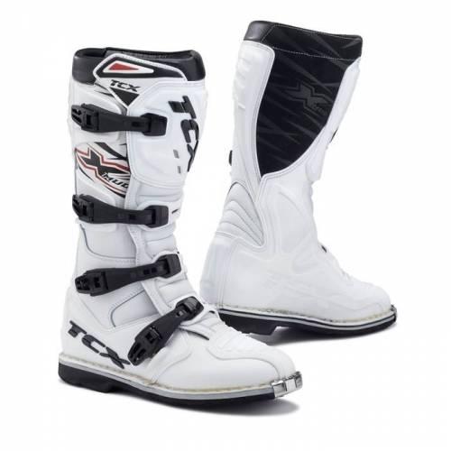 Cizme Enduro - Motocross TCX X-MUD · Alb / Negru