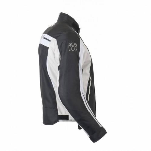 Geacă Moto din Textil BERING VIKER · Negru / Alb