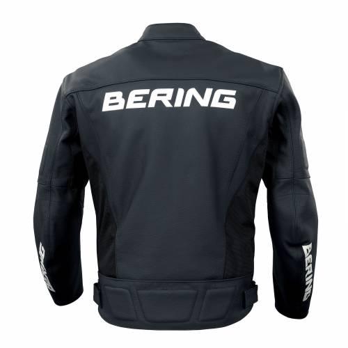 Geacă Moto din Piele & Textil BERING IRO · Negru