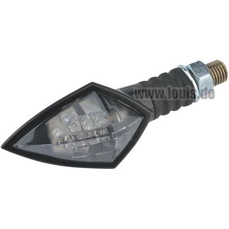 Semnalizator LED mini matt black Carbon Look