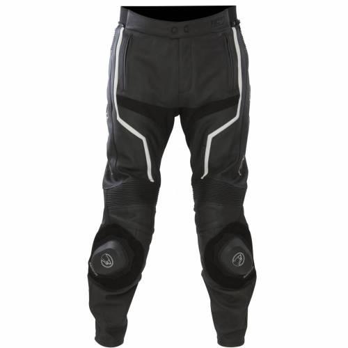 Pantaloni Moto din Piele & Textil BERING FLASH · Negru