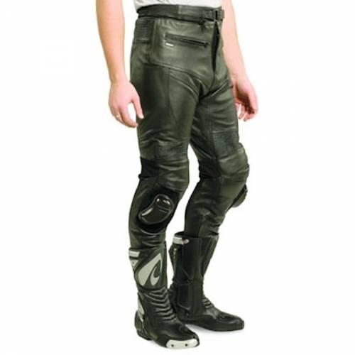 Pantaloni Moto din Piele & Textil SHOX FACTORY · Negru
