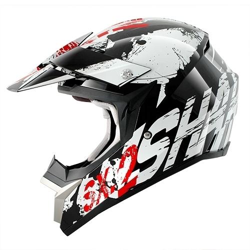Cască Enduro - Cross SHARK SX2 FREAK · Negru / Roșu / Alb