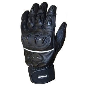 Mănuși Moto din Piele & Textil SHOX STREETLINE · Negru
