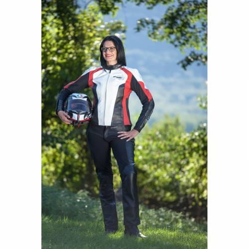 Pantaloni Moto Damă din Piele & Textil SIXGEAR SHEILA · Negru