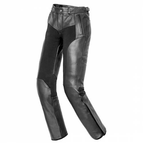Pantaloni Moto Dama din Piele & Textil SIXGEAR SHEILA · Negru