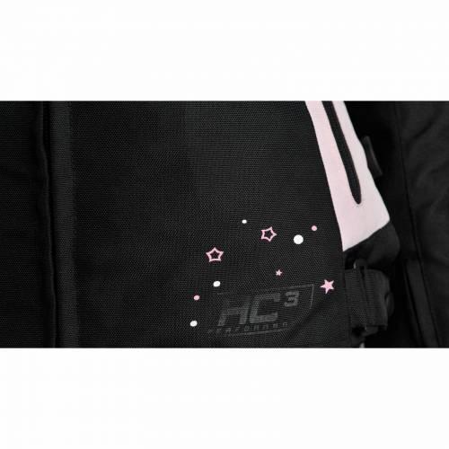 Geacă Moto Damă din Textil BERING LADY KARESS · Negru / Alb