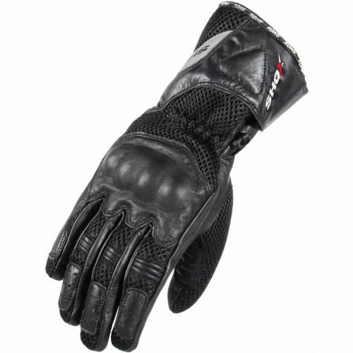 Mănuși Moto din Piele & Textil SHOX HARDFLOW · Negru