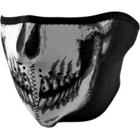 Mască Moto ZAN HEADGEAR GLOW SKULL · Negru / Alb cu Motiv