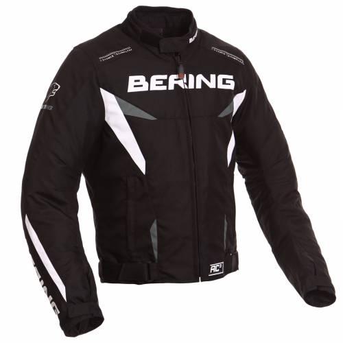 Geacă Moto din Piele BERING FIZIO · Negru / Alb