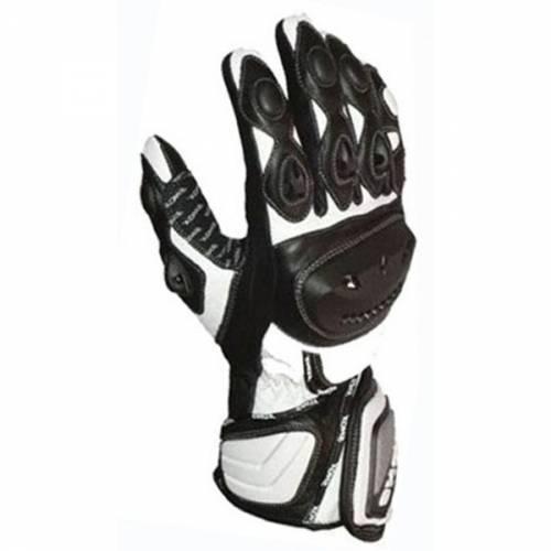Mănuși Moto din Piele SHOX SPEEDLINE · Negru / Alb