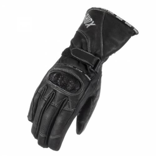 Mănuși Moto Damă din Piele & Textil SHOX AMAZON · Negru