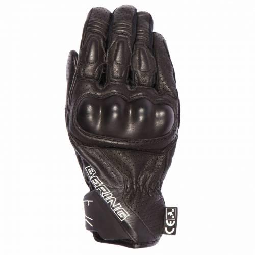 Mănuși Moto din Piele BERING RAVEN · Negru