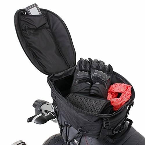 Geantă Moto pentru Șa BAGSTER SPIDER · Negru / Roșu