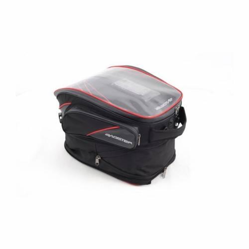 Geantă Moto pentru Rezervor cu Magnet BAGSTER FLASH · Negru / Roșu