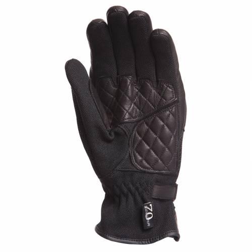 Mănuși Moto Damă din Piele & Textil SEGURA SYDNEY · Negru