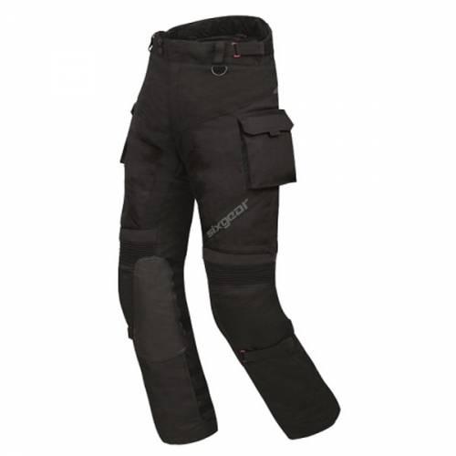 Pantaloni Moto din Piele & Textil SIXGEAR DELTA FORCE · Negru