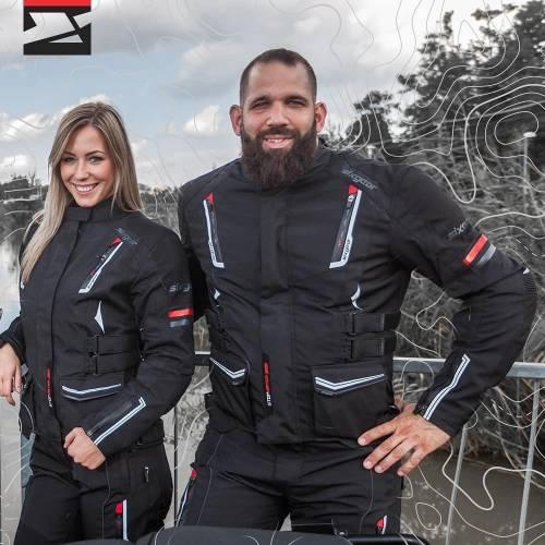 Pantaloni Moto din Textil SIXGEAR BANDIT · Negru