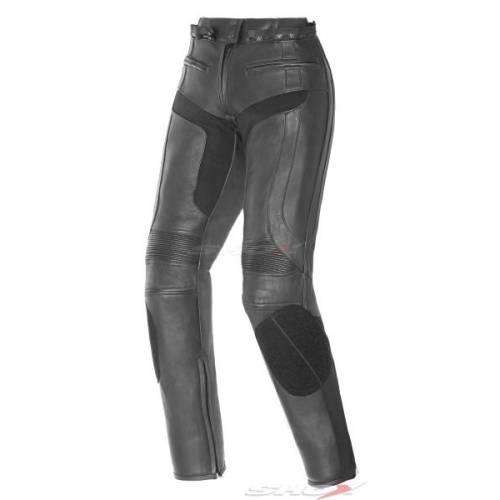 Pantaloni Moto Damă din Piele & Textil SHOX NICKY · Negru