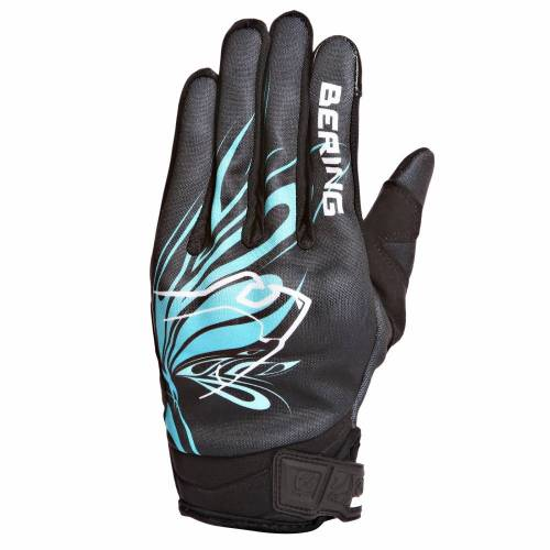 Mănuși Moto Damă din Textil BERING LADY ROBERTA · Negru / Albastru