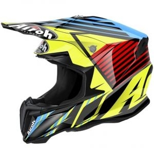 Cască Enduro - Cross AIROH TWIST STRANGE BLUE GLOSS