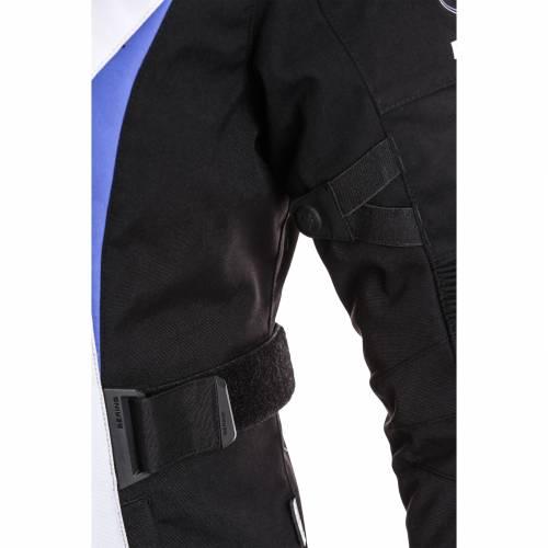 Geacă Moto Damă din Textil BERING LADY SAFARI · Negru / Alb / Albastru