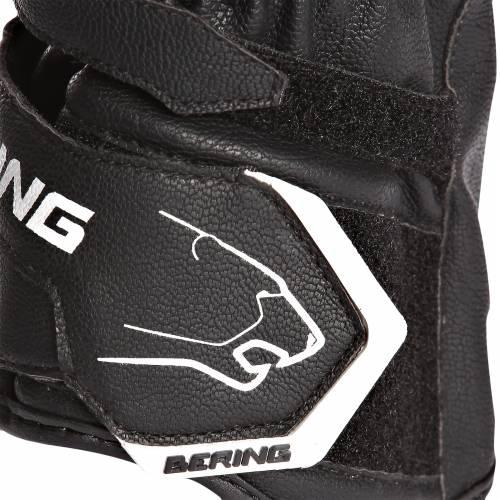 Mănuși Moto din Piele BERING BOLT · Negru / Alb