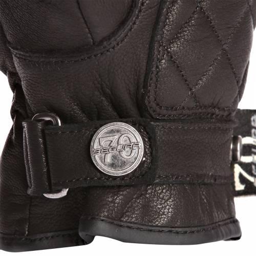 Mănuși Moto Damă din Piele SEGURA NATIVE · Negru