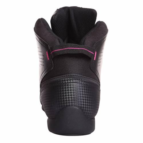 Ghete Moto Damă din Piele & Textil BERING JASPER LADY · Negru / Roz-Fluo