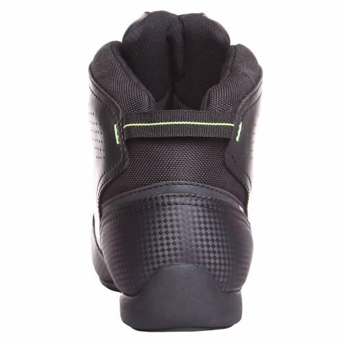 Ghete Moto din Piele & Textil BERING JASPER · Negru / Verde-Fluo