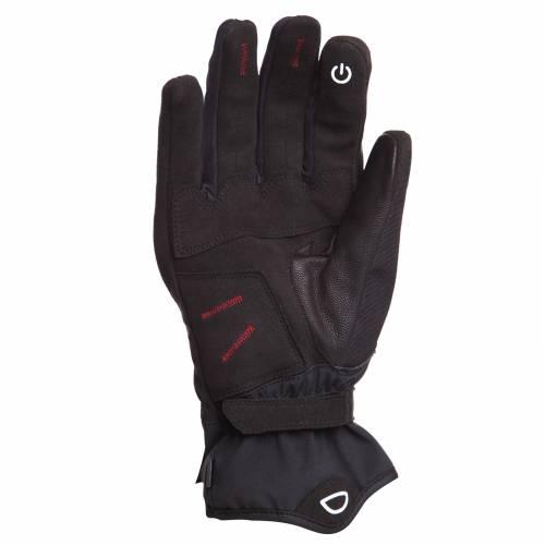 Mănuși Moto din Piele & Textil BERING CHADWICK · Negru / Alb