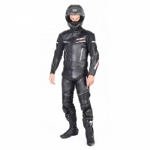 Combinezon Moto din Piele & Textil SPEED UP ALPHA · Negru