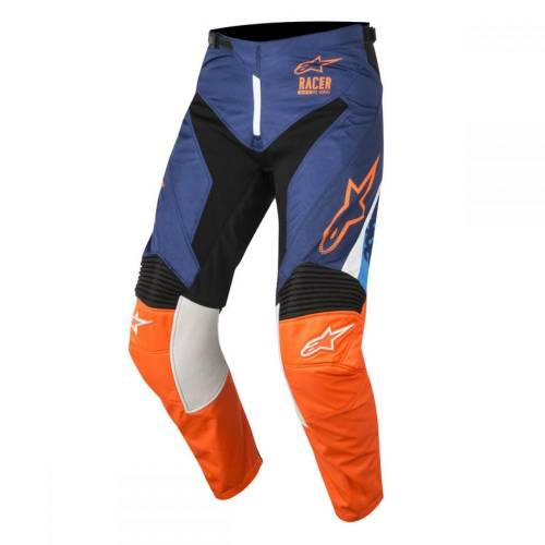 Pantaloni Enduro - Cross ALPINESTARS RACER SUPERMATIC · Albastru / Portocaliu