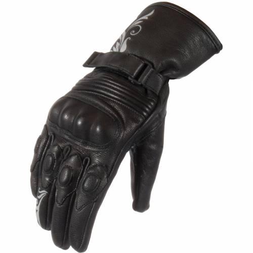 Mănuși Moto Damă din Piele SIXGEAR JOLIE · Negru