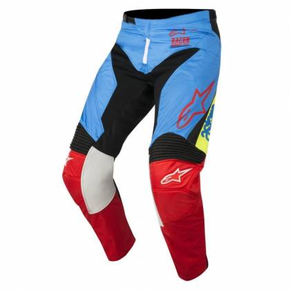 Pantaloni ALPINESTARS  Racer Supermatic Aqua/Black/Red S8