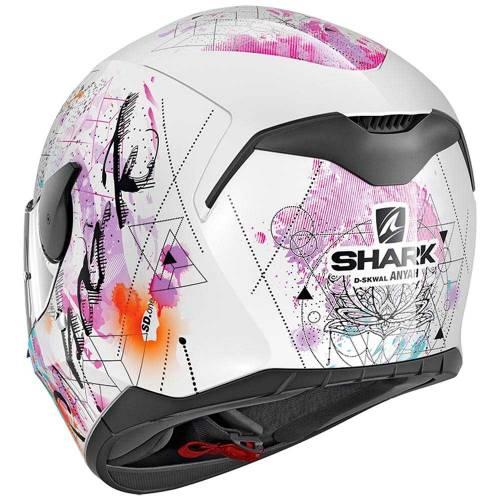Cască Moto Integrală SHARK D-SKWAL ANYAH · Alb