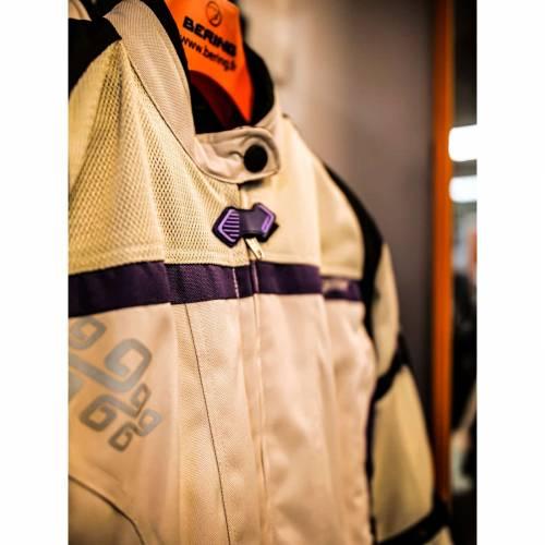 Geacă Moto Damă din Textil SIXGEAR LUNA · Gri / Mov