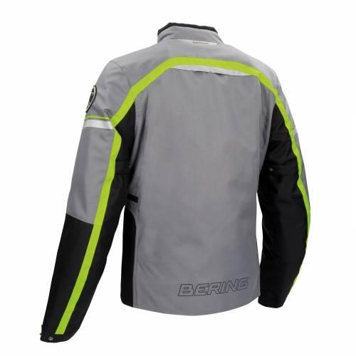 Geacă Moto din Textil BERING GREENWICH · Negru / Gri / Verde-fluo