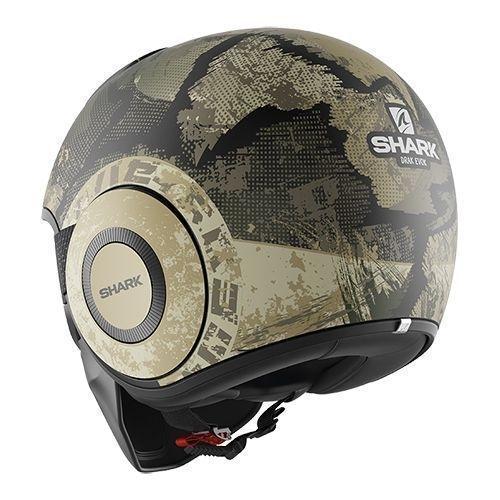 Cască Moto Open Face SHARK DRAK EVOK Camo · Negru / Verde Mat