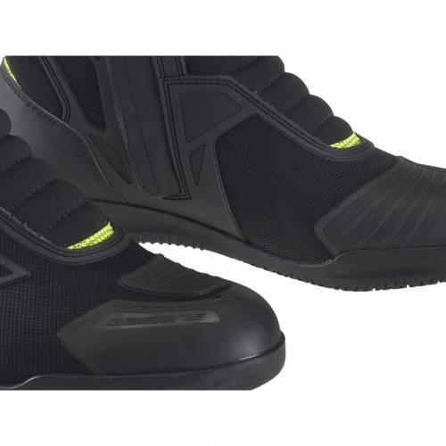 Cizme Moto din Piele & Textil GAERNE HELIUM Gore-Tex · Negru / Verde-Fluo