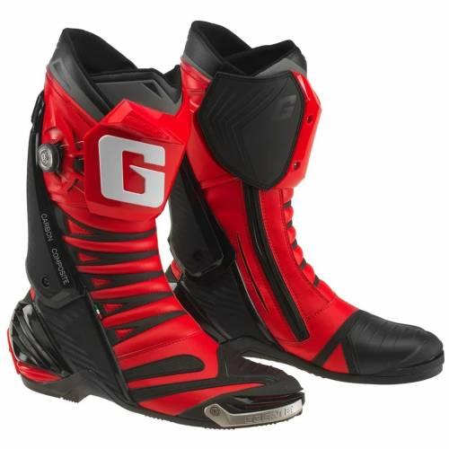 Cizme Moto Sport din Piele & Textil GAERNE GP1 EVO · Roșu / Negru